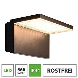 LED Außenwandleuchte 10W warmweiß schwarz Wandlampe Wandleuchte Außenlampe Lampe 1744A