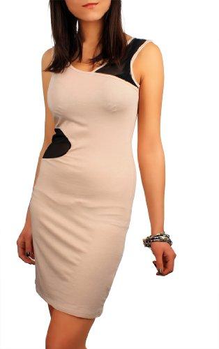 Minikleid Longshirt Tunika Gr. 36 - 38 S - M 5906 Joghurt