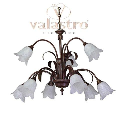 valfb22119-Beleuchtung Kronleuchter von innen aus Schmiedeeisen 6+ 3Lichter-Made in Italy von valastro Beleuchtung -