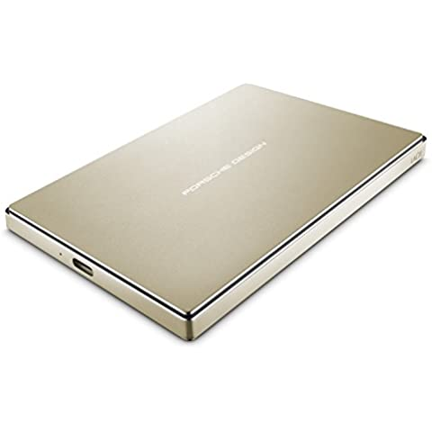 LaCie Porsche Design 2,5pulgadas disco duro externo portátil USB 3.0para PC y Mac dorado dorado 2 TB