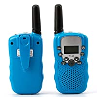 Walkie Talkies for Kids, Best Gifts Toys with Flashlight for Boys & Girls to Outside Adventure, Outdoor Game, Hiking, Camping(2 Pack) (blue)
