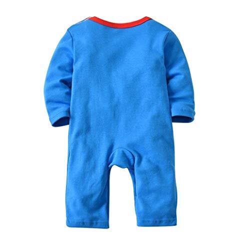 FORH 2 STÜCKE Halloween Baby Jungen Mädchen Cartoon Print Strampler Overall + Hut Set Outfit Abend Party Festliche Kleidung