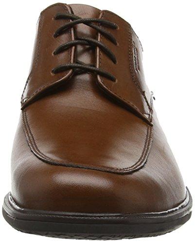 Rockport Essential Details Ii Apron Toe, Chaussures à Lacets Homme Marron - Brown (Tan Antique Leather)
