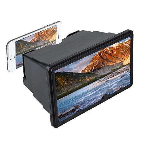 ndy 3D Bildschirmlupe Smartphone Vergrößerungsglas, Vergrößerer Bildschirm, Lupe 3D Film Video Bildschirm Verstärker Schützen Augen mit Reinigungstuch für iPhone(schwarz) ()