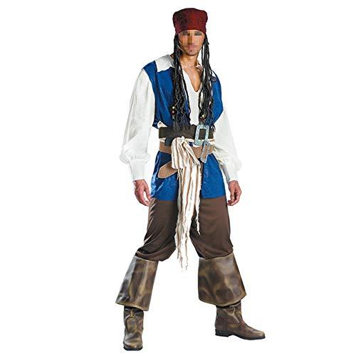 CHENGXI Kostüm-Partei-Halloween-Kostüm Captain Jack Sparrow Erwachsene Piraten-Kostüm