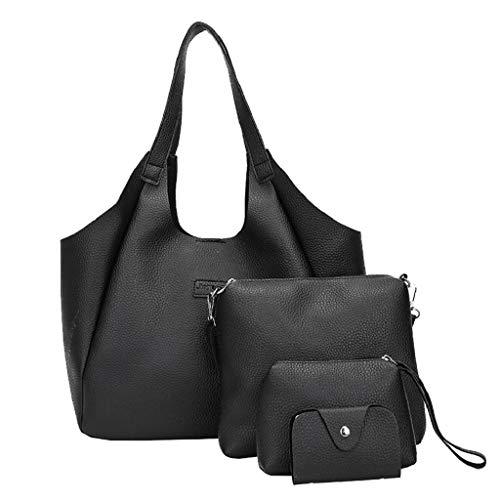 VJGOAL Damen Brieftasche, Frauen Mode Party Einkaufen Vierteiliges Set Schultertasche Umhängetasche...