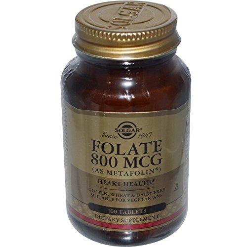 folsaeure metafolin Solgar, Folate (Folsäure) als Metafolin, 800mcg, 100 Veg.Tabletten