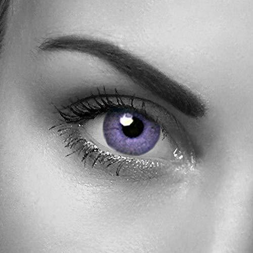 Eye-Effect Farbige Violette Kontaktlinsen Jahreslinsen, violett / 0 Dioptrien, 2 Stück