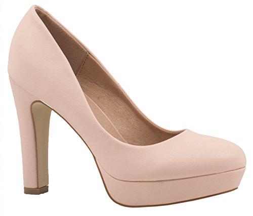 Elara Jumex Zapato de Tacón Alto para Mujer Plataforma Chunkyrayan E22321-Pink-41