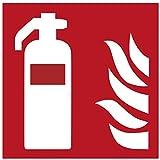 Metafranc Hinweisschild Symbol: Feuerlöscher - 150 x 150 mm, nachleuchtend / Beschilderung / Feuerlöscher / Erste-Hilfe-Kennzeichnung / Sicherheitsmarkierung / Gewerbekennzeichnung / 503840