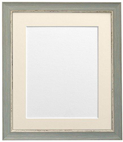 Frames By Post Nordic Blaue Bilderrahmen mit elfenbeinfarbenem Passepartout A2Bildgröße A3