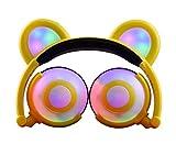 Dreamy eoncore Kids Kopfhörer Bär Ohr Verstellbar Stereo eearphones Geräuschreduzierung 3,5MMM über Ohr Gaming Headsets Lovely Special Geschenk für Jungen Mädchen