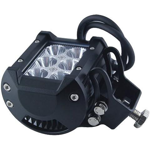 THG 18W 6x3w Cree LED proyector de la l¨¢mpara impermeable IP68 Luz de trabajo de trabajo del barco del coche SUV Truck Driving Rectangle ATV 12V 24V acero inoxidable Soporte