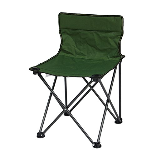 LDFN Tragbare Klappstuhl Outdoor Freizeit Stuhl Angeln Stuhl Strand Stuhl Skizze Stuhl,Green-42*42*65cm/1.38*1.38*2.13ft