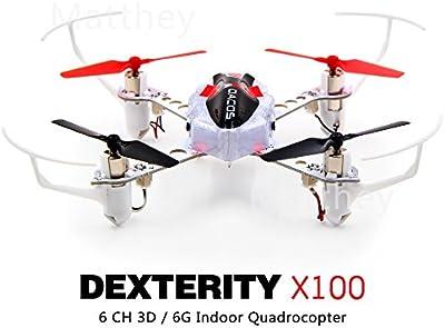 XK X251C 2.4G RC Quadcopter Con 720P Cámara RTF X7 Transmisor / motor sin escobillas / 4 canales 6-Axis Gyro Drone / 3D Rollover / piloto iluminado BLANCO Y NEGRO