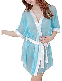 Valin Charming Lady Kinomo Nuisettes Lingerie, vêtements de nuit, bleu