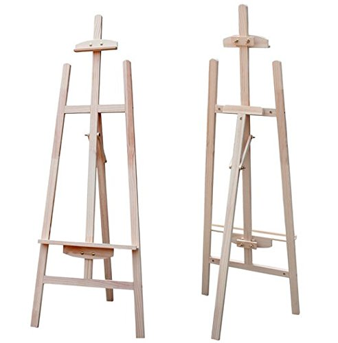 Beige Artist Studio (ADJUSTABLE ARTIST PAINTING STUDIO DISPLAY WOODEN TRIPOD EASEL(145CM HIGH) by LINMAN)