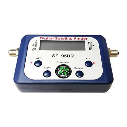 Noradtjcca Digitalanzeige Sat-Finder Meter Satfinder Fernsehsignalempfänger Decoder Satlink Empfänger Summer Kompass LCD FTA Dish
