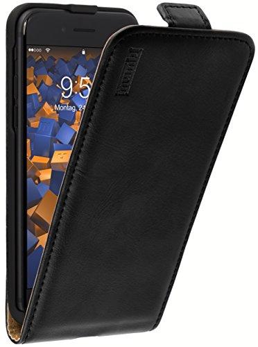 mumbi PREMIUM Leder Flip Case für iPhone 8 / iPhone 7 Tasche Leder Flip Case