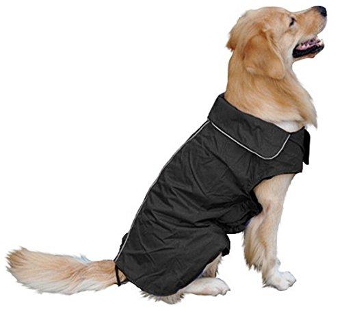 SUPEREX® Pet Dog Coat Jacket Hund costüm wasserdicht Hundepullover Hundemantel, Regenjacke Regenmantel Winterjacke Hundebekleidung Hundejacke winter Warm Wintermantel Hundemantel für kleine mittlere große Hunde (Schwarz, XXXL)