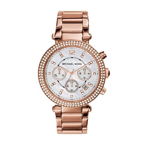 Michael Kors Damen Chronograph Quarz Uhr mit Edelstahl Armband MK5491