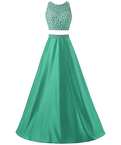 310c8cdad74e Callmelady Two Piece Prom Dresses Long For Women Evening & Cocktail Party  (Hunter Green, UK10) - Buy Online in Oman. | Apparel Products in Oman - See  Prices ...