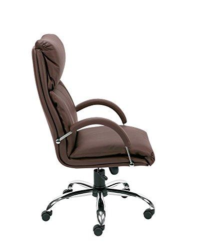 Dreams4Home Chefsessel \'Turin I\', Chefdrehsessel, Drehstuhl, Bürostuhl, Arbeitsdrehstuhl, mit Armlehnen, braun