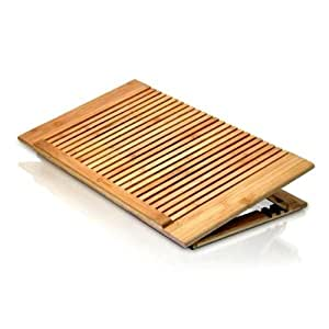 MacAlly ECOFANPRO Adjustable Bamboo Cooling Stand for Laptop