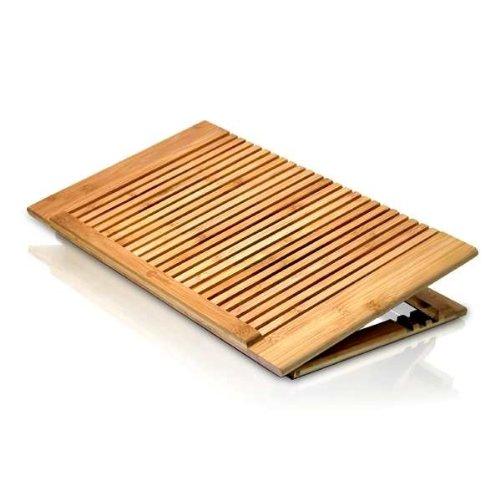 Macally EcofanPro Bambus-Unterlage zur Kühlung für Notebooks bis 43,2 cm (17 Zoll) (Stromversorgung per USB)