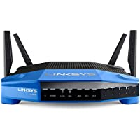 Linksys WRT1900ACS - Router inalámbrico Smart Wi-Fi de Doble Banda AC1900 (Doble Banda 2,4 y 5 GHz, procesador Doble núcleo 1,6 GHz, Wireless-AC, 4 Antenas, Seguridad Avanzada), Azul y Negro