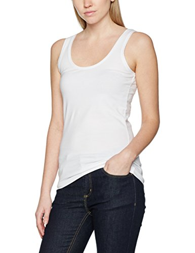s.Oliver Damen Top 4899344006, Weiß (White 0100), 38