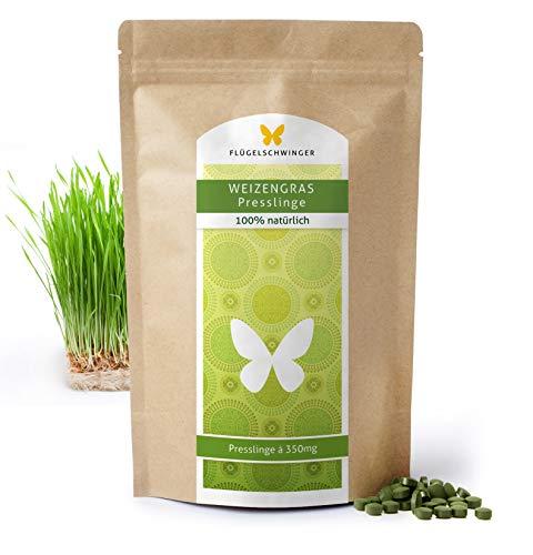 500g Weizengras-Presslinge von FLÜGELSCHWINGER, Rohkostqualität, Tabletten á 350mg aus jungen Gräsern, schonende Verarbeitung bei niedrigen Temperaturen (500g)