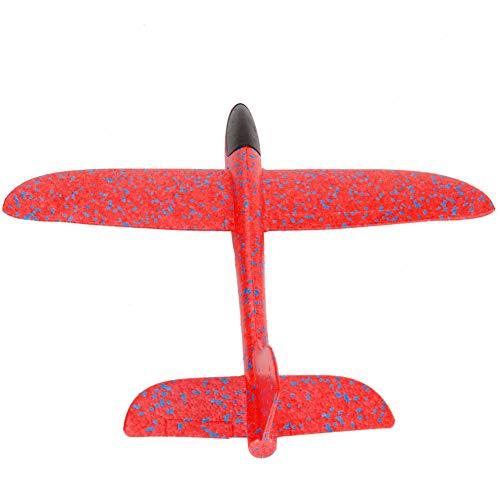 0Miaxudh Hand werfen Flugzeug Spielzeug, LED-Licht Hand starten werfen Schaum Segelflugzeug Flugzeug Flugzeug im Freien Kinder Spielzeug Red 3