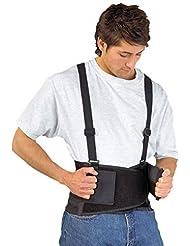 rückenstütze- rückenstützgurt- SAFEBELT- Banda tapicería en particular Espalda, Músculos abdominales, Vértebra lumbar y rückgrat- también bajo Ropa tragbar- Tamaños S-XL Negro - L