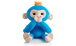 Fingerlings HUGS - BORIS - Friendly Interactive Plush Monkey Toy - by WowWee