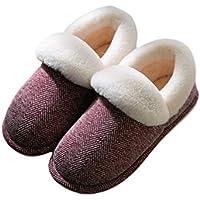 FENICAL Zapatillas de casa de 1 par Zapatillas de Felpa Antideslizantes para Interiores y Exteriores