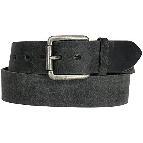 Vanzetti Gürtel, Unisex Ledergürtel, gewachst, 45 mm breit, schwarz, 100 cm