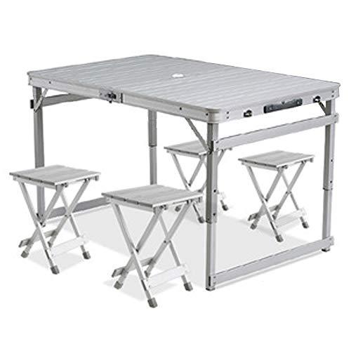 CHENGGUO Table de Pliage extérieure et Combinaison de Chaise Portable en Aluminium de Camping Table de Loisirs Portable Table de Loisirs Portable Simple