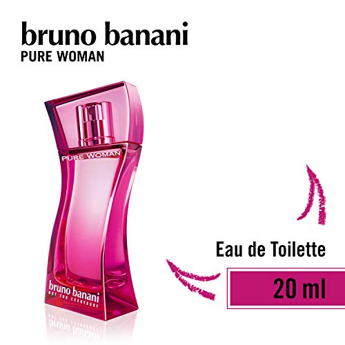 bruno banani Pure Woman - Eau de Toilette Natural Spray - Lieblich-warmes Damen Parfüm - 1er Pack (1 x 20ml)