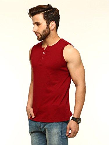 Maroon-Henleys-T-Shirt-GSCSHLY720MRN