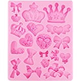 Assorted Bows Crown Heart Silicone Mold Cake Decorating for Sugarcraft, Fondant, Resin, Polymer Clay, Crafting Projects