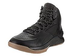 Under Armour Men's Ua Curry 1 Lux Mid Lth Blkblkblk Basketball Shoe 8.5 Men Us