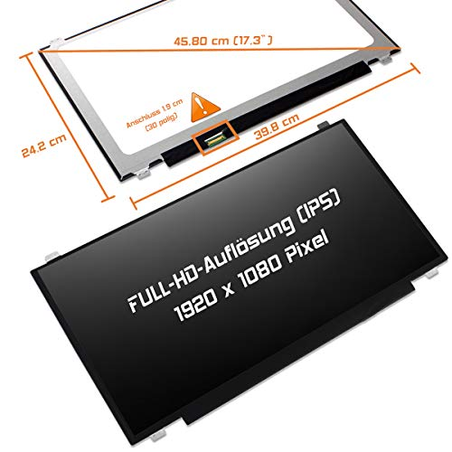 "Laptiptop 17,3"" LED Display Screen matt Ersatz für Medion Erazer P7644 1920x1080 FHD Bildschirm Panel"