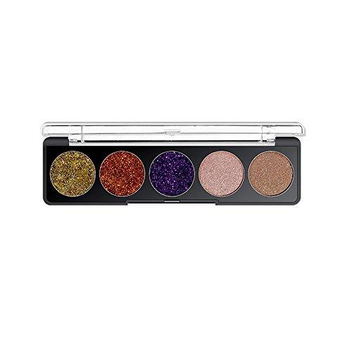 Berrose-5 Farben Shiny Lidschatten Shimmer Puder Palette Kosmetik Make-up Schönheit Glitzer Wasserdichte Glitter