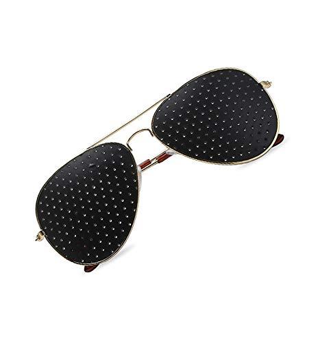 IGlasses Sonnenbrillen, Pinhole Microhole Small Sonnenbrillen, Strabismus Correction Small Brillen, Micro Anti-Fatigue/Anti-Myopia/Astigmatism Goggles