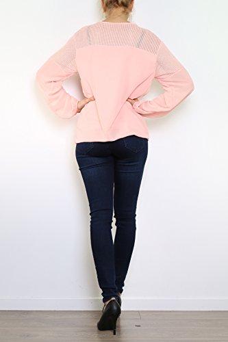Lyse Damen Langarmshirt, Einfarbig One Size Rose