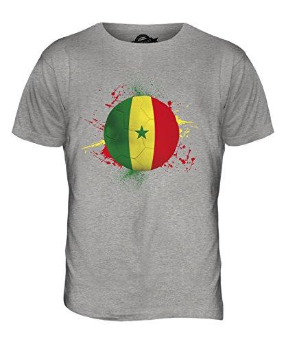 CandyMix Senegal Fußball Herren T Shirt Grau Meliert