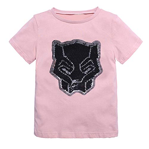 l Kurzarm T-Shirt Baby Jungen Mädchen Koreanische Version der Flip-Pailletten Top Kleidung Sommer Mode Cool Oberteil Kinderbekleidung ()