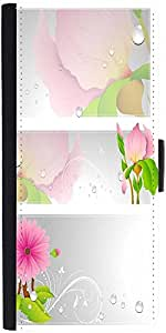 Snoogg Flourish Vector Banner Designer Protective Flip Case Cover For Lg G2