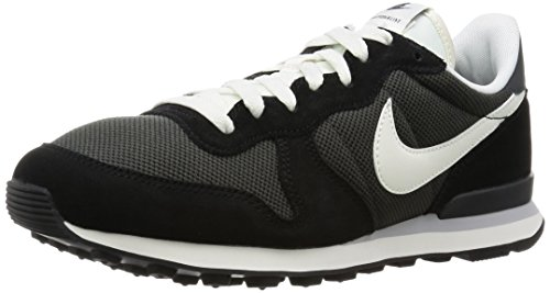Nike internationalist, scarpe da ginnastica uomo, nero (deep pewter black/anthracite/wolf grey/sail), 41 eu